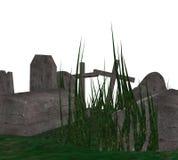 3D Begraafplaats Stock Foto