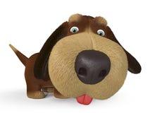3d belachelijke hond Royalty-vrije Stock Foto