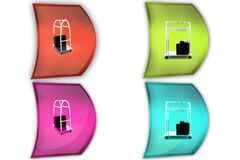 3d bellboy concept icon Stock Photography