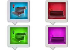 3D bench concept icon Royalty Free Stock Images