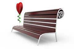 3d bench concept Royalty Free Stock Images
