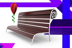 3d bench  illustration Royalty Free Stock Photos