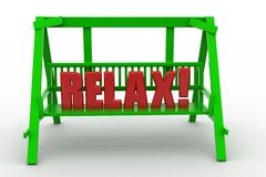 3d bench relax Royalty Free Stock Images