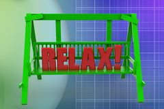 3d bench relax illustration Stock Images