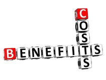 3D Benefits Costs Crossword Stock Image