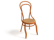 3D bentwood chair Stock Photography