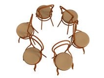 3D bentwood chair Royalty Free Stock Photography