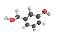 3d Benzenemethanol,亦称苯乙醇结构  免版税库存照片