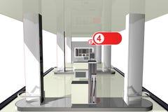 3D benzinepost, Royalty-vrije Stock Foto