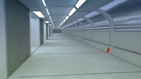3d übertragen Futuristischer Raumschiffinnenraum Stockbild