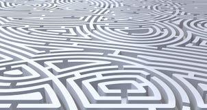 3d ?bertragen vom abstrakten wei?en Hintergrund des schwierigen wei?en Labyrinths stock abbildung