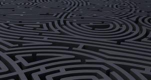 3d ?bertragen vom abstrakten wei?en Hintergrund des schwierigen schwarzen Labyrinths stock abbildung