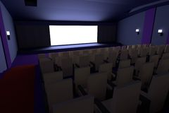3d übertragen vom Kino Lizenzfreie Stockbilder