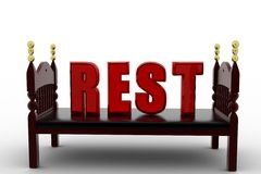 3d bes rest concept Royalty Free Stock Image