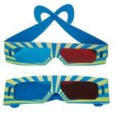 3D beschermende bril Royalty-vrije Stock Foto's