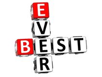 3D Best Ever Crossword Royalty Free Stock Images