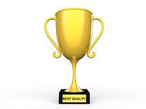 3d best quality award trophy Stock Photos