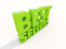 3d best sellers. Best sellers icon on a white background. 3D illustration stock photo