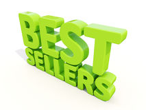 3d best sellers. Best sellers icon on a white background. 3D illustration royalty free stock photo
