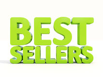 3d best sellers. Best sellers icon on a white background. 3D illustration royalty free stock photos