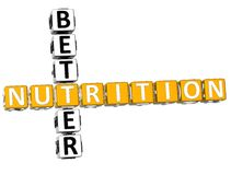 3D Better Nutrition Crossword Stock Photography