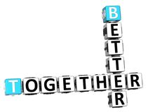 3D Better Together Crossword. On white background Royalty Free Stock Image