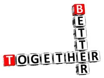 3D Better Together Crossword. On white background Royalty Free Stock Photo