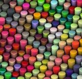 3d beveled cylinder shape in multi rainbow color. Beveled cylinder shape in multi rainbow color Stock Image