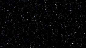 3D beweging van het stergebied in ruimte4k royalty-vrije illustratie