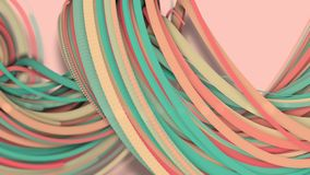 3D Bewegung, 3D Wiedergabe, abstrakter geometrischer Hintergrund, Linien die Kreispunkte sind zusammen sehr nah Bis das Sehen ein stock abbildung