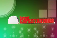 3d beyond expectations illustration Royalty Free Stock Photos