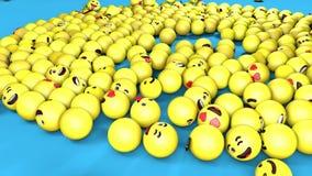 3D bezszwowa loopable animacja spada ogólnospołeczny sieci emoji royalty ilustracja