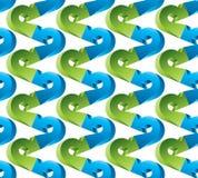 3d bezszwowy deseniowy błękitny i zielony strzała kolory Zdjęcie Stock