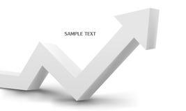 3d biały strzałkowaty wykres Zdjęcia Stock