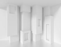 3d Biały Szpaltowy wnętrze Zdjęcia Royalty Free