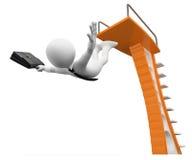 3D biali ludzie. Bierze ryzyko w biznesowej metaforze ilustracji