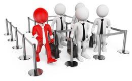 3D biali ludzie. VIP Zdjęcie Stock