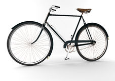 3d  bicycle. 3d dark green bicycle on white blackground Royalty Free Stock Photo