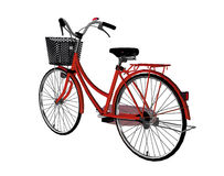 3d Bicycle. Digitally rendered image of a red bicycle on white background Royalty Free Stock Photography