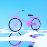 3d bicycle. Royalty Free Stock Photography