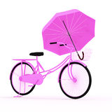3d bicycle. 3d bicycle in white background Royalty Free Stock Images