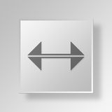 3D Bidirectional Arrows icon Business Concept. 3D Symbol Gray Square Bidirectional Arrows icon Business Concept Royalty Free Stock Photography