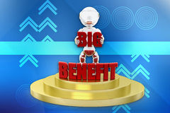 3d big benefit illustration Stock Photography