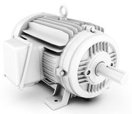 3d big electric motor. On white background Royalty Free Stock Image