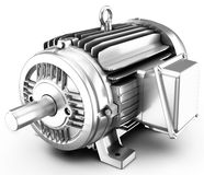 3d big electric motor. On white background Stock Images