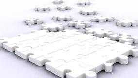 3D big puzzle royalty free illustration