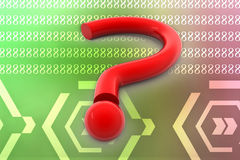 3d big question mark illustration Royalty Free Stock Photos