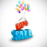 3D BIG SALE with colorful bubbles Royalty Free Stock Photography