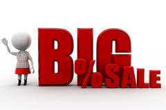 3d big sale Royalty Free Stock Images