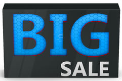 3d  big sale sign. 3d  big blue sale sign on white background Stock Photography